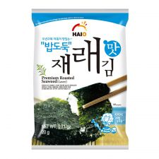HAIO Premium Roasted Seaweed (Laver) 0.71oz(20g) 4 Packs, HAIO 밥도둑 재래맛김 0.71oz(20g) 4팩
