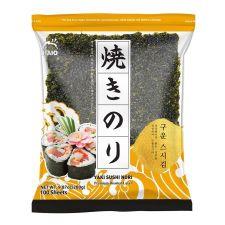 Yaki Sushinori Premium Roasted Laver 10.6oz(300g) 100 Sheets, HAIO 구운스시김 10.6oz(300g) 100매
