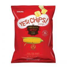 Ohsung Yes! Chips! Spicy Corn Crisps 5.11oz(145g), 오성 예스칩스 매콤한 옥수수맛 5.11oz(145g), Ohsung 香辣玉米片 5.11oz(145g)