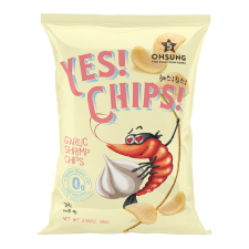 Ohsung Yes! Chips! Garlic Shrimp Chips 3.35oz(95g), 오성 예스칩스 갈릭새우맛 3.35oz(95g), Ohsung 蒜香蝦片 3.35oz(95g)