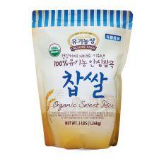 Organic Farm 100% Organic Sweet Rice 3lb(1.36kg), 유기농장 100% 유기농 안심잡곡 찹쌀 3lb(1.36kg), 有機農場 100% Organic Sweet Rice 3lb(1.36kg)