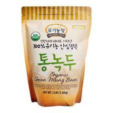 Organic Farm Organic Green Mung Bean 3lbs(1.36kg), 유기농장 100% 유기농 안심잡곡 통녹두 3lbs(1.36kg), 有機農場 Organic Green Mung Bean 3lb(1.36kg)