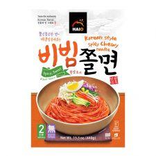 HAIO Korean Style Spicy Chewy Noodle 15.5oz(440g), HAIO 비빔쫄면 15.5oz(440g), HAIO 韓式辣拌麵 15.5oz(440g)
