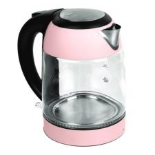 Electric Glass Kettle Pink 57.48 oz(1.7L) (1200W)