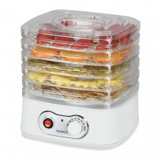 KuHAUS 5-Tier Mini Food Dehydrator White 10.23x9.84x9.05in, KuHAUS 5단 미니 음식건조기 화이트 26x25x23cm