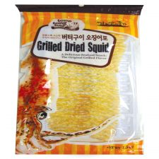 Tong Tong Bay Seasoned Dried Squid 1.5oz(43g), 통통배 버터구이 오징어포 1.5oz(43g)