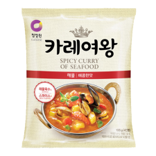 Chung Jung One Queen's Curry Spicy Seafood Flavor 3.81oz(108g), 청정원 카레여왕 해물 매콤한맛 3.81oz(108g)