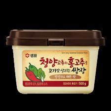 Sempio Seasoned Soybean Paste with Chili 1.1lb(500g), 샘표 청양고추와 홍고추로 고기맛 살리는 쌈장 1.1lb(500g)