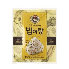 Beksul Furikake Rice Seasoning Cheese Flavor 0.95oz(27g), 백설 밥이랑 치즈 0.95oz(27g)