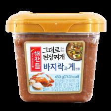 Haechandle Soybean Paste for Stew (Clam & Crab Flavor) 15.87oz(450g), 해찬들 그대로 된장찌개 바지락과 게 15.87oz(450g)
