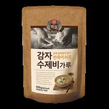 Beksul Potato Starch Flour Mix For Dough Flakes 1.1lbs(500g), 백설 감자 수제비 가루 1.1lb(500g)