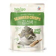 CJ bibigo Oven Baked Brown Rice Seaweed Crisps Original Flavor 0.70oz(20g), 씨제이 비비고 김스낵 오리지널 0.70oz(20g)