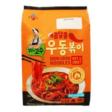 CJ Bibim Udon Noodles Hot & Sweet 17.8oz17.8oz(504g),씨제이 밀당의 고수 매콤달콤 우동볶이 17.8oz17.8oz(504g)