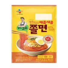 CJ Korean Style Chewy Noodles Hot & Sour 16oz(454g),  씨제이 밀당의 고수 매콤새콤 쫄면 16oz(454g)