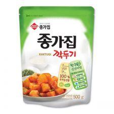 Chongga Sliced Radish Kimchi 17.6oz(500g), 종가집 종가 깍두기 17.6oz(500g)