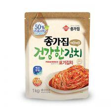 Chongga Whole Cabbage Kimchi (Poggi Kimchi Low Sodium) 2.2lb(1kg), 종가집 건강한 포기김치 2.2lb(1kg)
