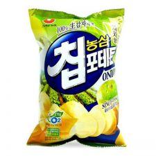 Nongshim Chip Potato Sour Cream Onion Flavor Big Size 4.4oz(125g), 농심 칩포테토 사워크림 어니언맛 빅사이즈 4.4oz(125g)