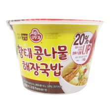 Ottogi Cooked Rice and Dried Pollack Soup with Bean Sprouts 10.63oz(301.5g), 오뚜기 황태콩나물 해장국밥 컵밥  10.63oz(301.5g), 不倒翁 Cooked Rice and Dried Pollack Soup with Bean Sprouts 10.63oz(301.5g)