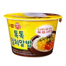 Ottogi Cooked Rice and Fish Roe Sauce with Kimchi 6.77oz(192g), 오뚜기 톡톡 김치알밥 컵밥 6.77oz(192g)