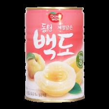 Dongwon Canned White Peach 14.1oz(400g), 동원 제철담은 백도 14.1oz(400g)