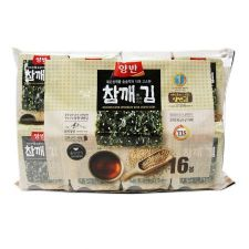 Dongwon Yangban Roasted Laver Sprinkled with Sesame Seeds 0.17oz(5g) 16 Packs