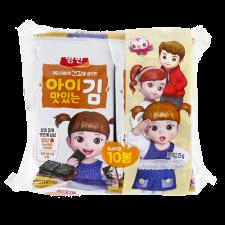 Dongwon Seasoned Laver Snack Pack 0.08oz(2.5g) 10 Packs, 동원 양반 아이 맛있는 김 도시락김 0.08oz(2.5g) 10팩