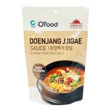 Chung Jung One O'Food Soybean Paste Stew Sauce 4.94oz(140g), 청정원 오푸드 된장찌개 양념 4.94oz(140g), 淸淨園 O'Food Soy Bean Stew Sauce 4.94oz(140g)