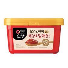 Chung Jung One Sunchang 100% Brown Rice Red Pepper Paste Less Spicy 1.1lb(500g), 청정원 순창 100% 현미 태양초 덜매운 고추장 1.1lb(500g)