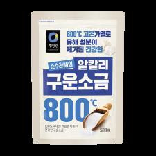 Chung Jung One Roasted Solar Salt 1.1lbs (500g), 청정원 구운소금 1.1lbs (500g)