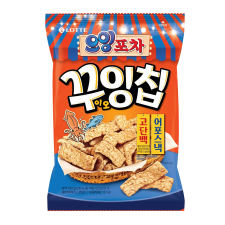 Lotte Oing Pocha Chip 3.52oz(100g), 롯데 오잉 포차 꾸잉칩 3.52oz(100g)