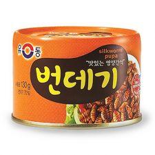 Yu Dong Boiled Silkworm Pupa 4.58oz(130g), 유동 번데기 4.58oz(130g)