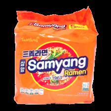 Samyang Samyang Ramen 4.23oz(120g) 5 Packs, 삼양 삼양라면 4.23oz(120g) 5팩