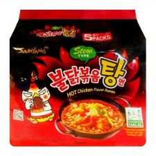 Samyang Hot Chicken Flavor Ramen Stew Type 5.11oz(145g) 5 Packs, 삼양 불닭볶음탕면 5.11oz(145g) 5팩