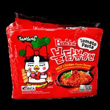 Samyang Tomato Hot Chicken Flavor Ramen 4.94oz(140g) 5 Packs, 삼양 토마토 불닭볶음면 4.94oz(140g) 5팩