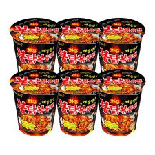 Samyang Hot Chicken Flavor Ramen Cup 2.47oz(70g) 6 Cups, 삼양 불닭볶음면 컵 2.47oz(70g) 6컵