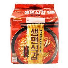 Pulmuone Air Dried Spicy Ramen 3.38oz(96g) 4 Packs, 풀무원 생면식감 매운맛 라면 3.38oz(96g) 4팩