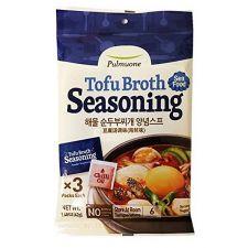 Pulmuone Tofu Broth Soup Seasoning Seafood Tofu Flavor 1.48oz(42g), 풀무원 해물 순두부찌개 양념스프 1.48oz(42g)