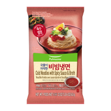 Pulmuone Cold Noodles with Spicy Sauce & Broth 22oz(624g), 풀무원 국물이 자작한 비빔냉면 22oz(624g)