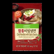 Pulmuone Cold Noodles with Spicy Sauce 15.7oz(444g), 풀무원 함흥 비빔냉면 15.7oz(444g)