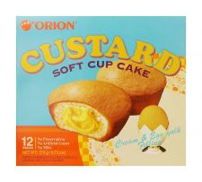Orion Custard 9.73oz(23g) 12 Packs, 오리온 카스타드 9.73oz(23g) 12개입