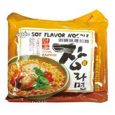 Paldo Jang Ramyun (Soy Flavor Noodle)  4.23oz(120g) 5 Packs, 팔도 장라면  4.23oz(120g) 5 Packs, 八道  Jang Ramyun (Soy Flavor Noodle)  4.23oz(120g) 5 Packs