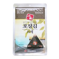 Samhae Sushi Laver for Triangle Rice Ball 0.35oz(10g) 10 Sheets, 삼해 삼각주먹밥용 김 0.35oz(10g) 10장