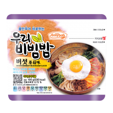 Easybab Bibimbap Mushroom 3.52oz(100g), 이지밥 우리 비빔밥 버섯 3.52oz(100g)