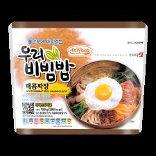 Easybab Bibimbap Spicy Jjajang 3.52oz(100g), 이지밥 우리 비빔밥 매콤짜장 3.52oz(100g)