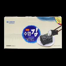 BadaAechan Suhyup Premium Roasted Seaweed Less Sodium 0.7oz(20g) 10 Packs, 바다애찬 수협 선물세트용 저염 전장김 0.7oz(20g) 10 Packs, BadaAechan 特級烤海苔 0.7oz(20g) 10包