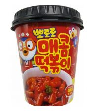 Mukkomokko Pororo Dried Rice Cake Hot Sauce 4.2oz(120g), 무꼬뭐꼬 뽀로로 매콤 떡볶이컵 4.2oz(120g)