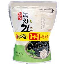 KwangCheon Green Tea Seasoned Laver 2.1oz(60g) 1+1 Pack, 광천 녹차 자반김 2.1oz(60g) 1+1팩
