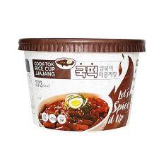 Nangman Brother Cook Tok Rice Cup Jjajang 5.08oz(144g), 낭만브라더 국떡 컵볶이 매콤짜장 5.08oz(144g)
