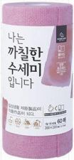 HOMETNER Disposable Roll Type Scrubber Pink 60 Sheets(1 Roll) HOMETNER 나는 까칠한 수세미입니다 핑크 60매(1롤)
