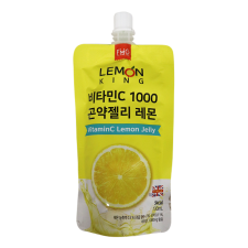FMG Vitamin C Lemon Jelly 4.39 fl.oz(130ml), FMG 비타민C 1000 곤약젤리 레몬 4.39 fl.oz(130ml)